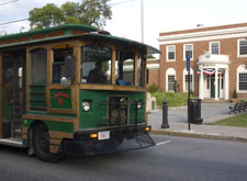 The Hyannis Trolley Free Service travels through Hyannis Ma