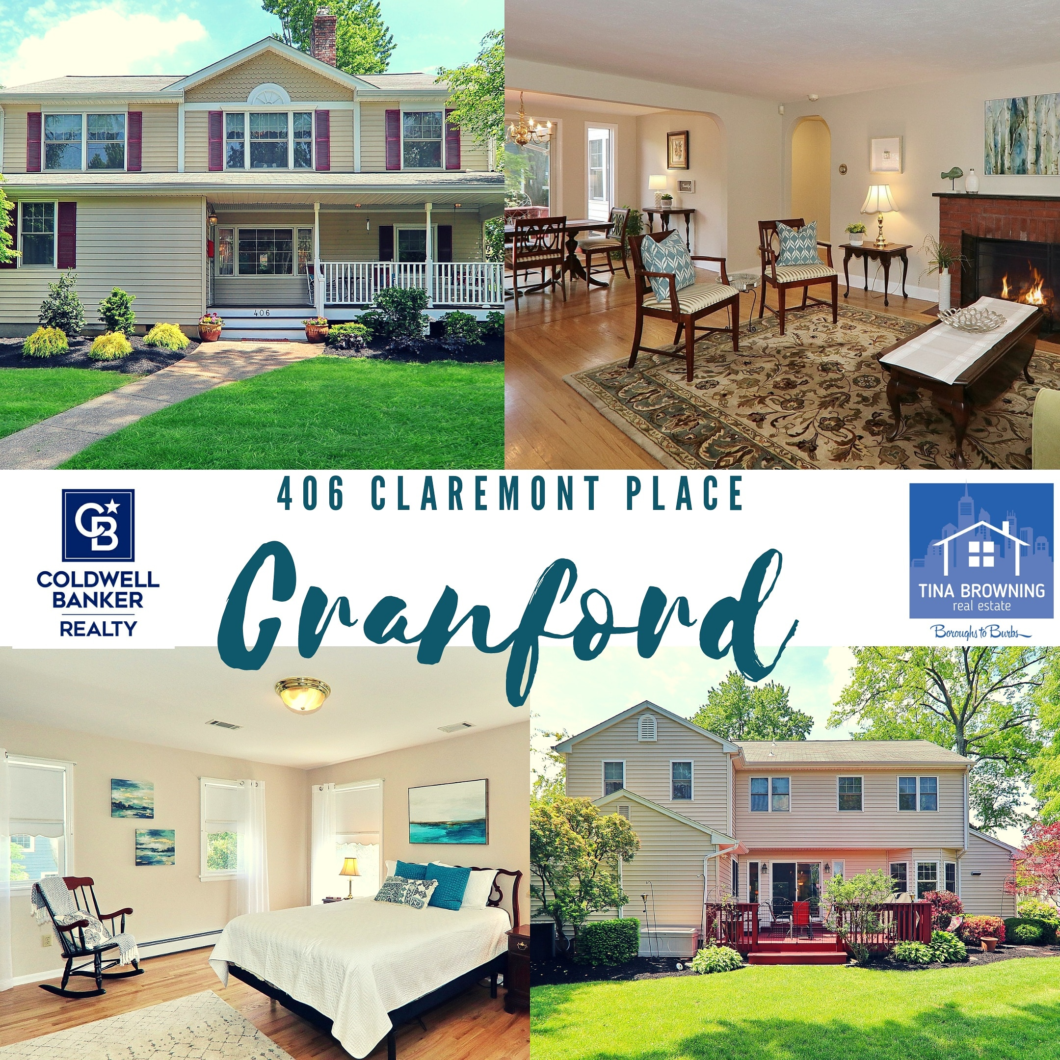 New Listing! 406 Claremont Place, Cranford