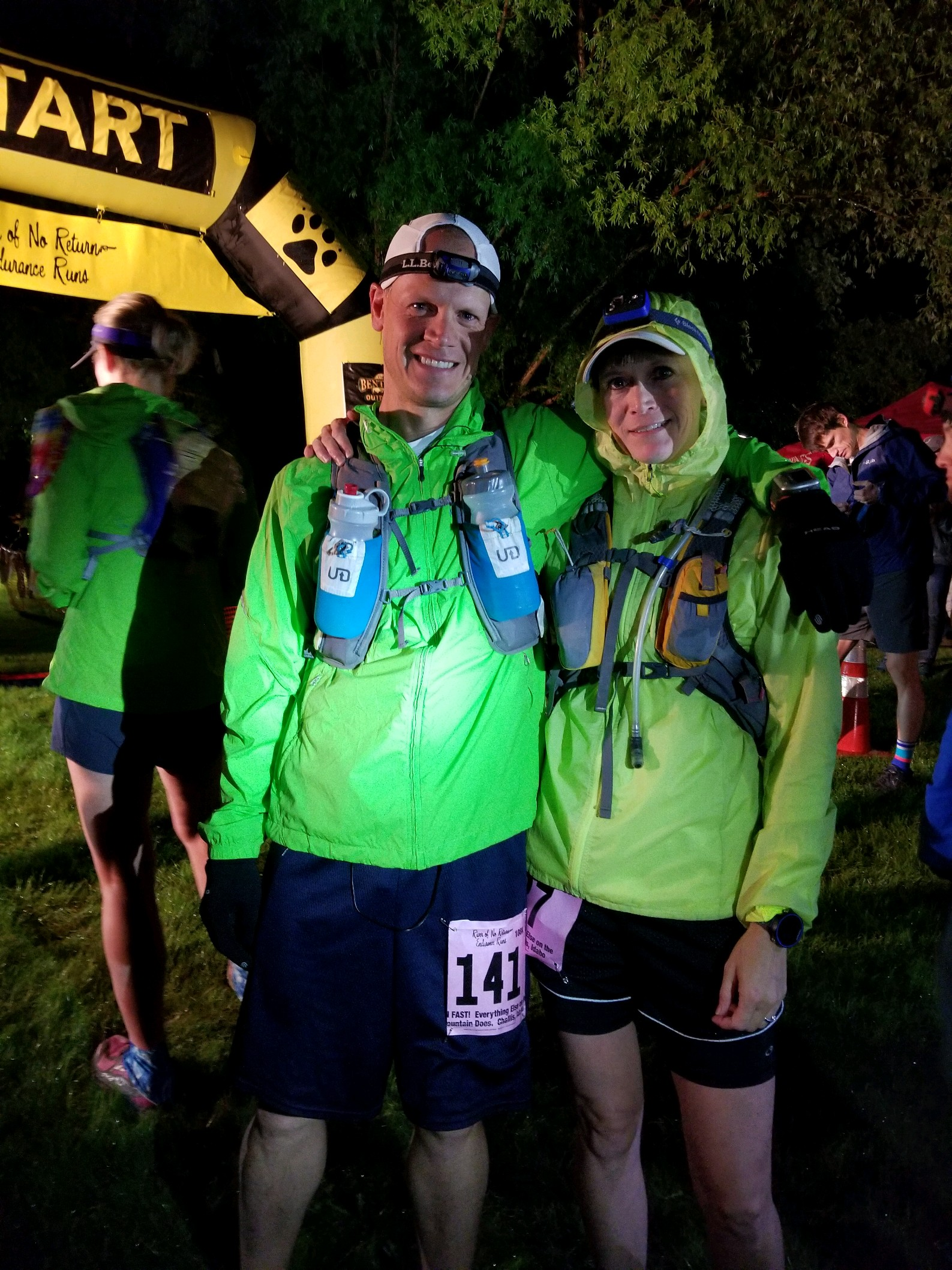 My brother and I at the start of the RONR 108k