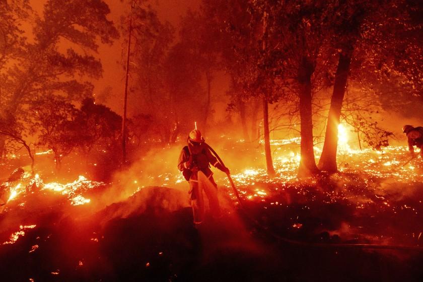 Creek Fire firefighter