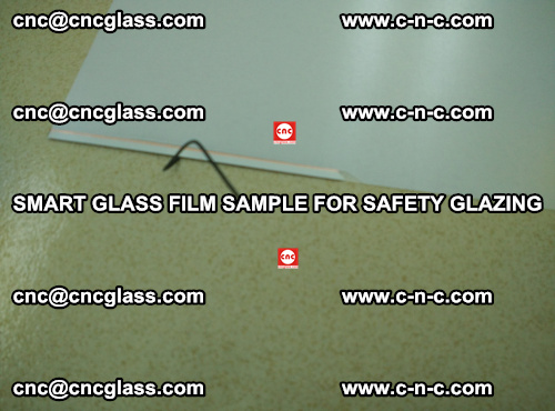 Smart glass film sample for safety glazing (1)