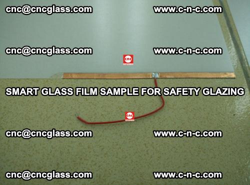Smart glass film sample for safety glazing (10)