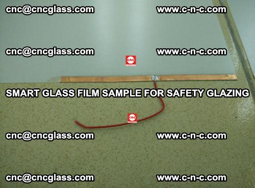 Smart glass film sample for safety glazing (11)