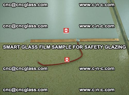 Smart glass film sample for safety glazing (13)