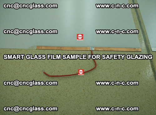 Smart glass film sample for safety glazing (18)