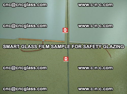 Smart glass film sample for safety glazing (19)