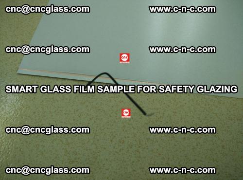 Smart glass film sample for safety glazing (2)