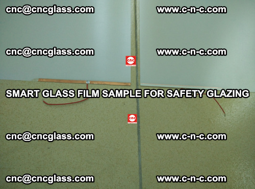 Smart glass film sample for safety glazing (20)