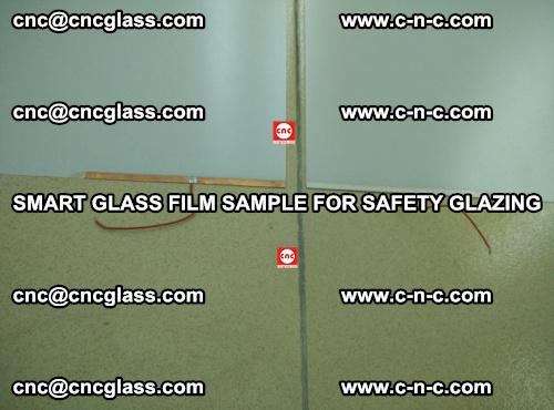 Smart glass film sample for safety glazing (21)