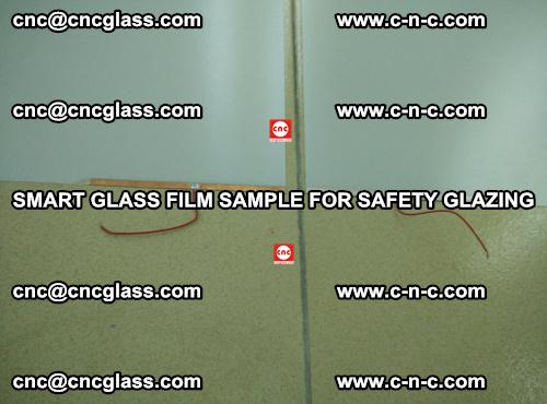 Smart glass film sample for safety glazing (22)