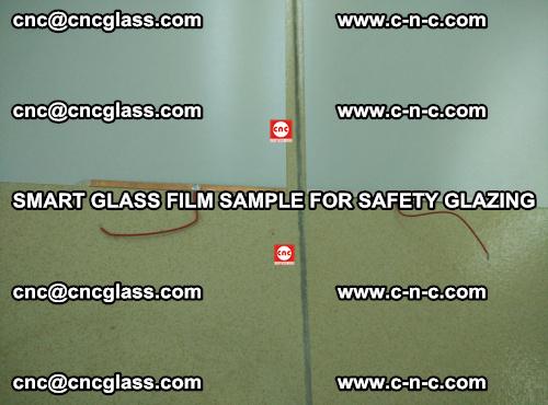 Smart glass film sample for safety glazing (23)