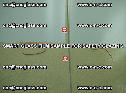 Smart glass film sample for safety glazing (24)