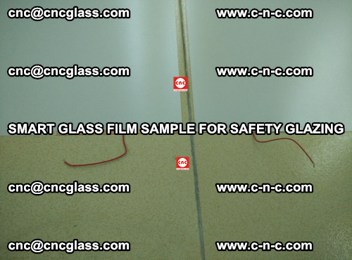 Smart glass film sample for safety glazing (26)