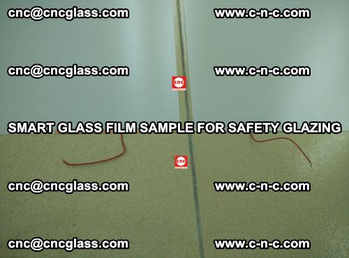Smart glass film sample for safety glazing (27)