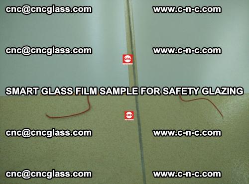 Smart glass film sample for safety glazing (28)