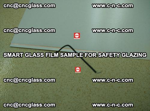 Smart glass film sample for safety glazing (3)