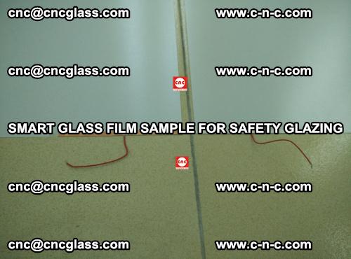 Smart glass film sample for safety glazing (30)