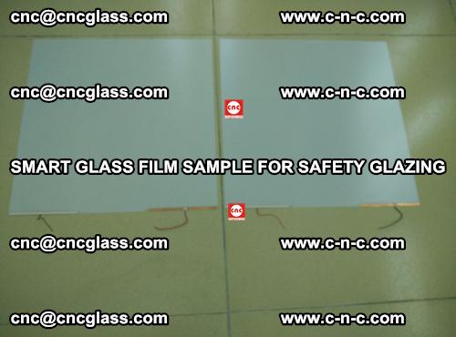 Smart glass film sample for safety glazing (31)