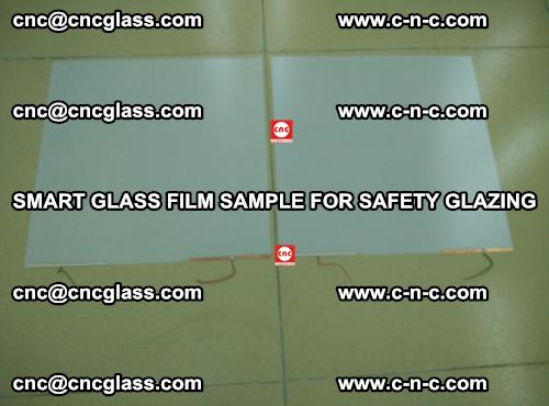 Smart glass film sample for safety glazing (32)