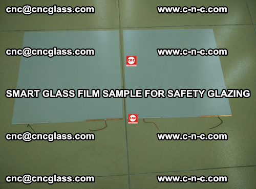 Smart glass film sample for safety glazing (34)