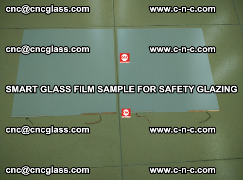 Smart glass film sample for safety glazing (35)
