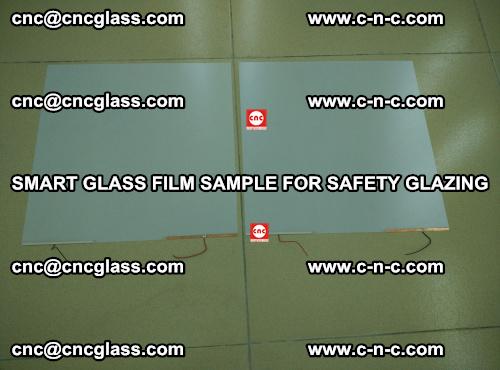 Smart glass film sample for safety glazing (36)