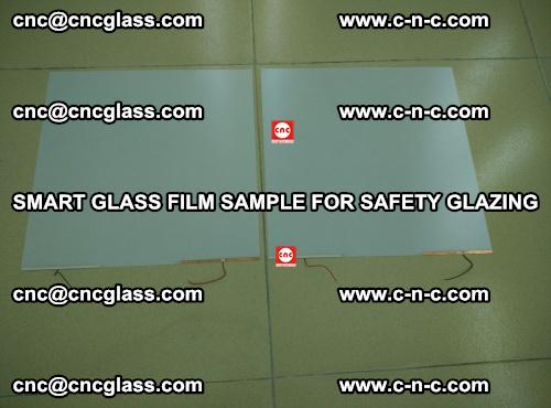 Smart glass film sample for safety glazing (37)