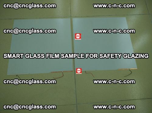 Smart glass film sample for safety glazing (38)