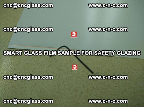 Smart glass film sample for safety glazing (4)
