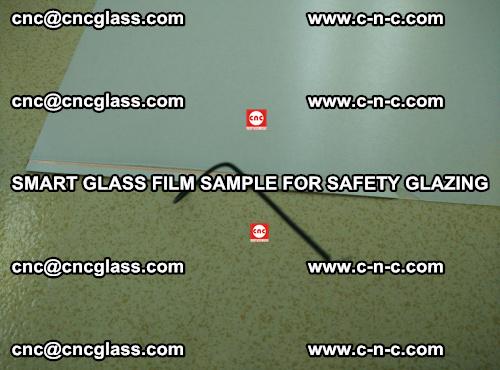 Smart glass film sample for safety glazing (5)