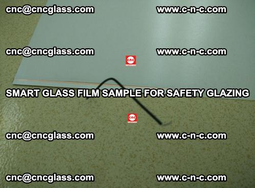 Smart glass film sample for safety glazing (7)