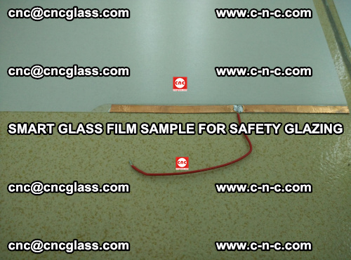Smart glass film sample for safety glazing (8)