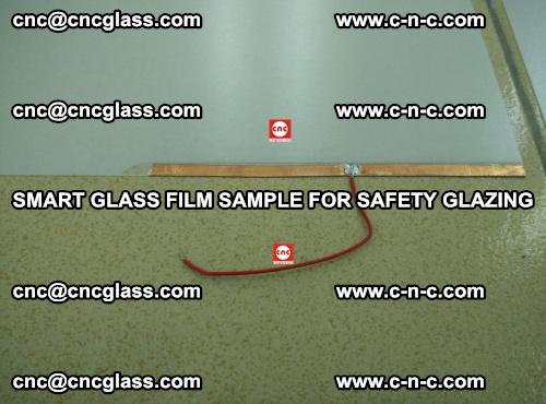 Smart glass film sample for safety glazing (9)