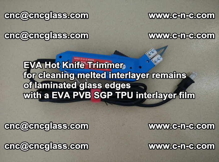 EVA THERMAL TRIMMER cutting overflowed film remains of laminated safety glass EVA PVB SGP TPU (3)