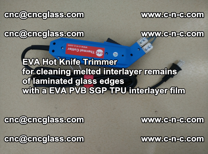 EVA THERMAL TRIMMER cutting overflowed film remains of laminated safety glass EVA PVB SGP TPU (4)