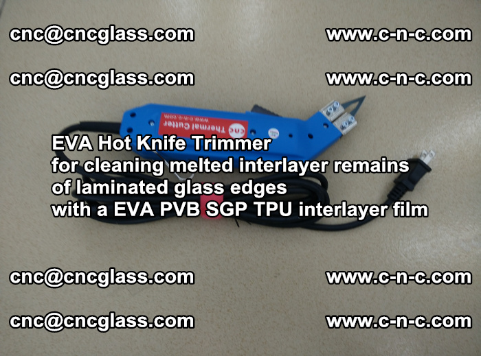 EVA THERMAL TRIMMER cutting overflowed film remains of laminated safety glass EVA PVB SGP TPU (6)