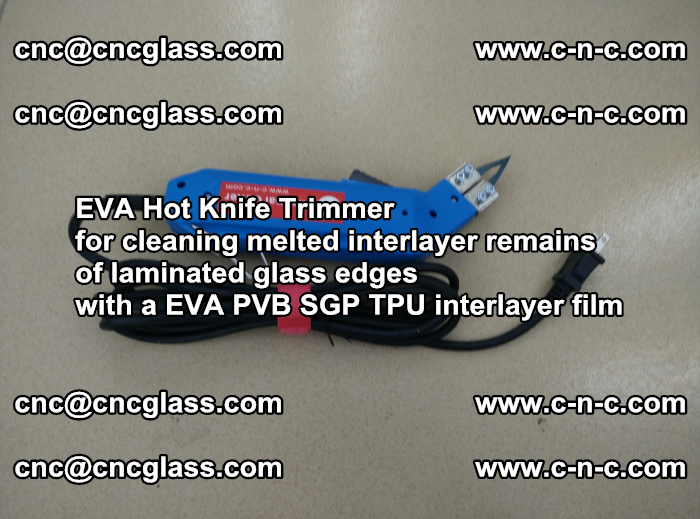 EVA THERMAL TRIMMER cutting overflowed film remains of laminated safety glass EVA PVB SGP TPU (7)