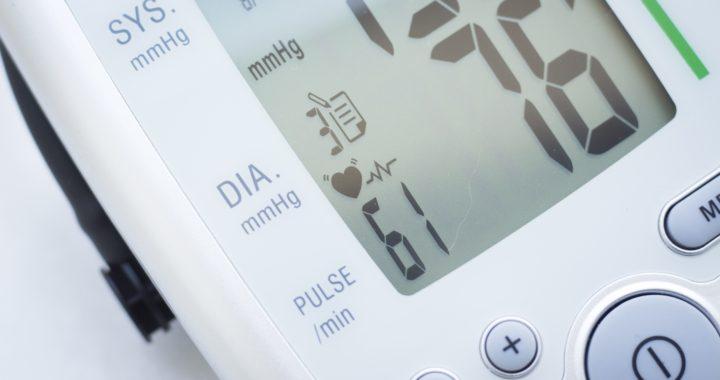 Blood pressure pulse rate meter