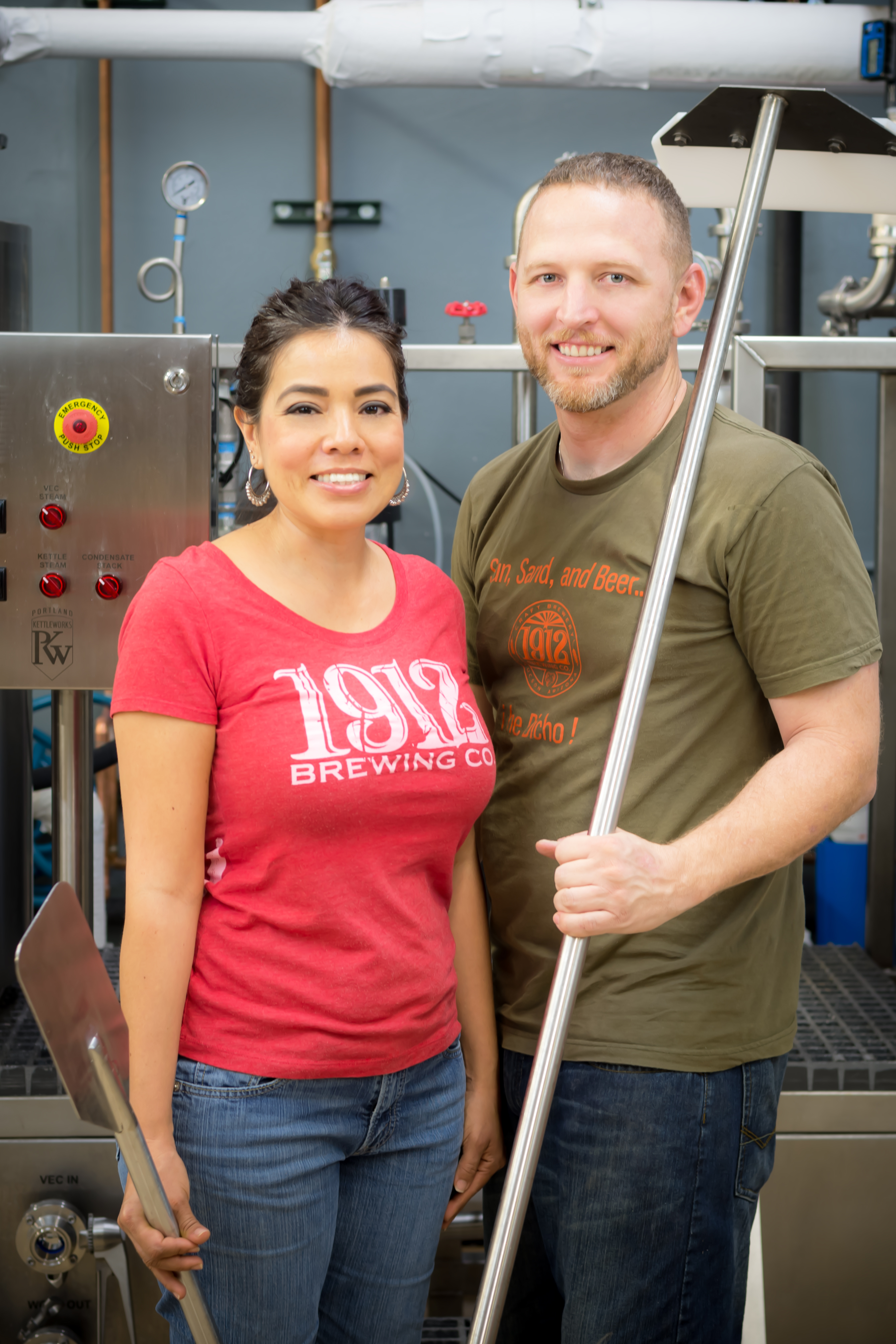 Allan and Alicia Conger - Owners of 1912 Brewing