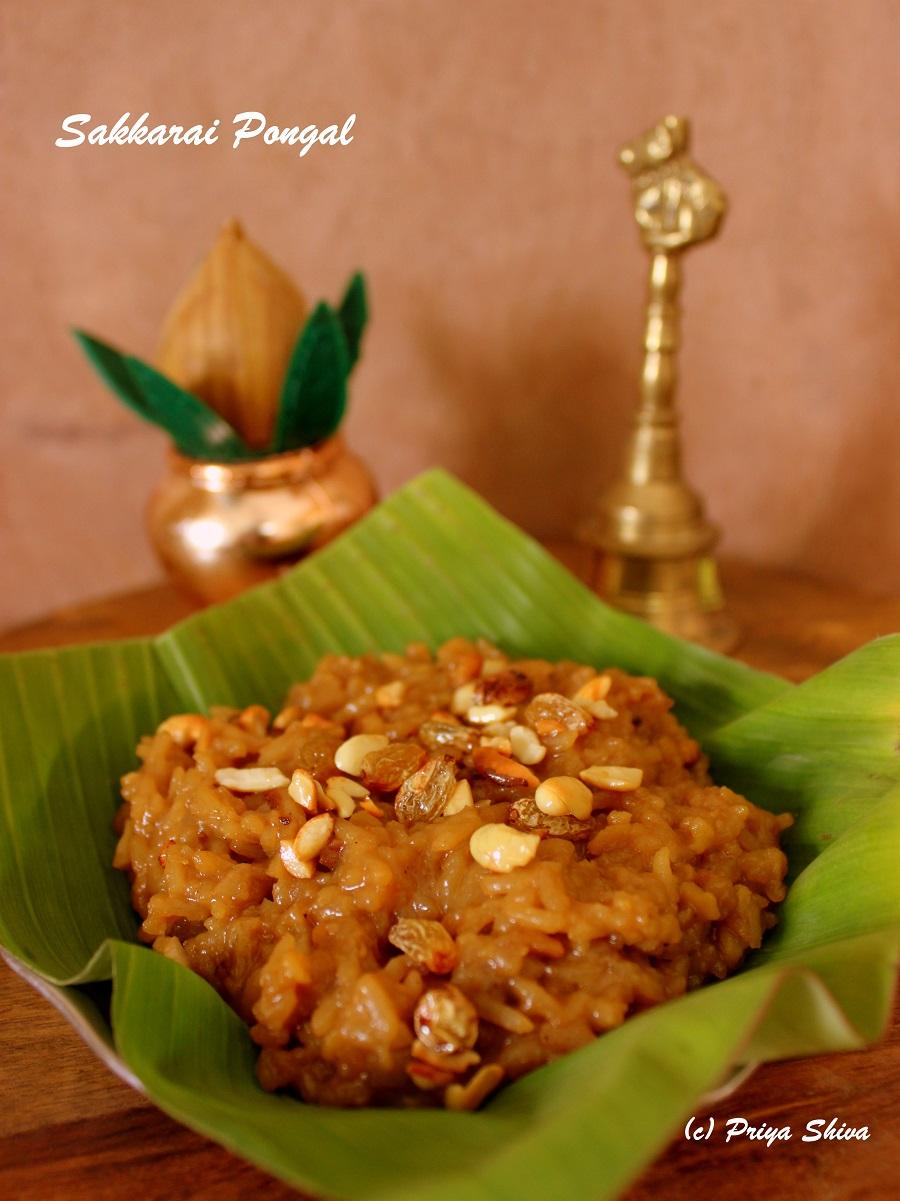 sakkarai pongal recipe