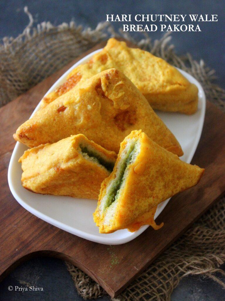 HARI CHUTNEY WALE BREAD PAKORA