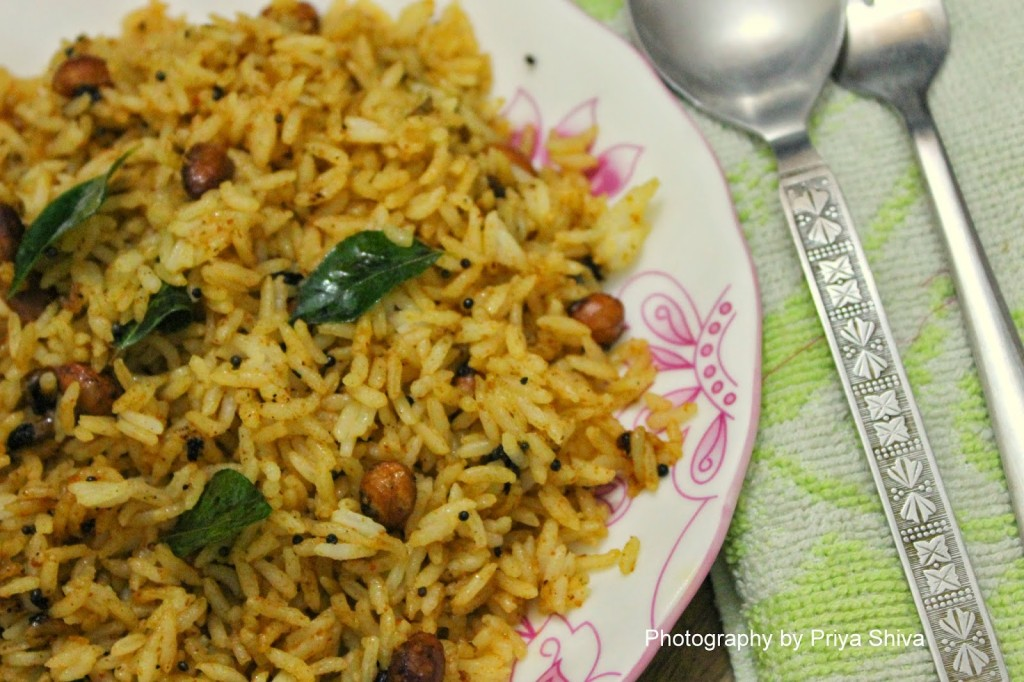 tamarind rice, recipe, rice, vegan