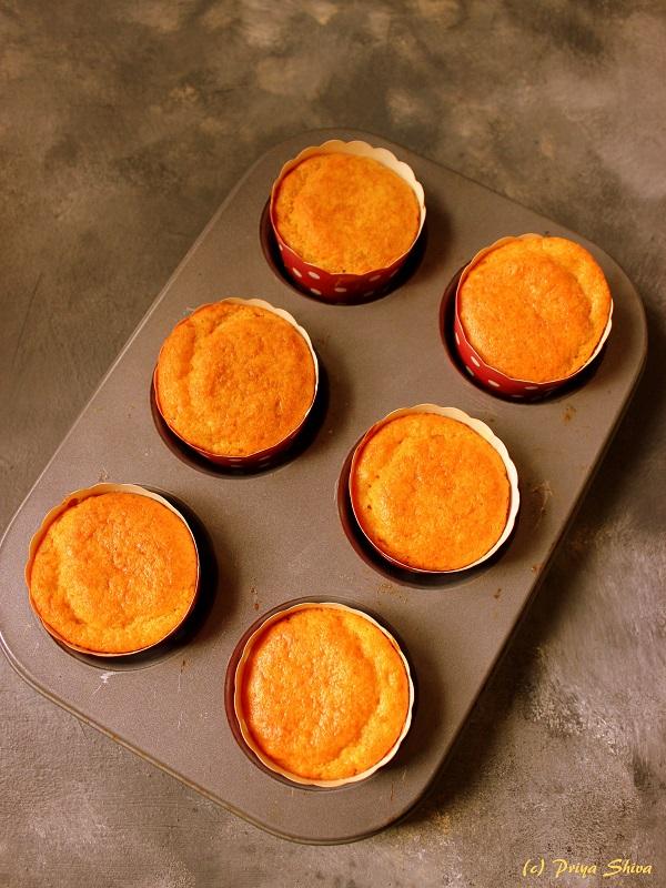 eggless whole wheat orange cupcake 1