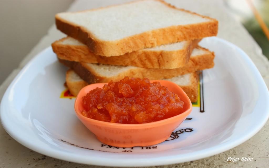 apple jam, papaya jam, jam