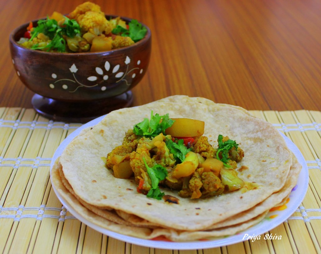 Gobi adraki, stir-fry vegetable, curry, recipe