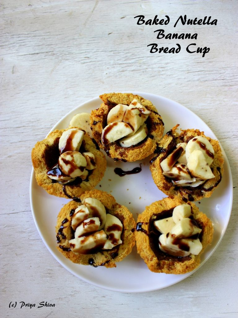 Baked Nutella Banana Bread Cups