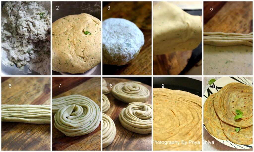 lacha paratha, lachhedaar paratha, parantha, layered paratha, Indian flat bread