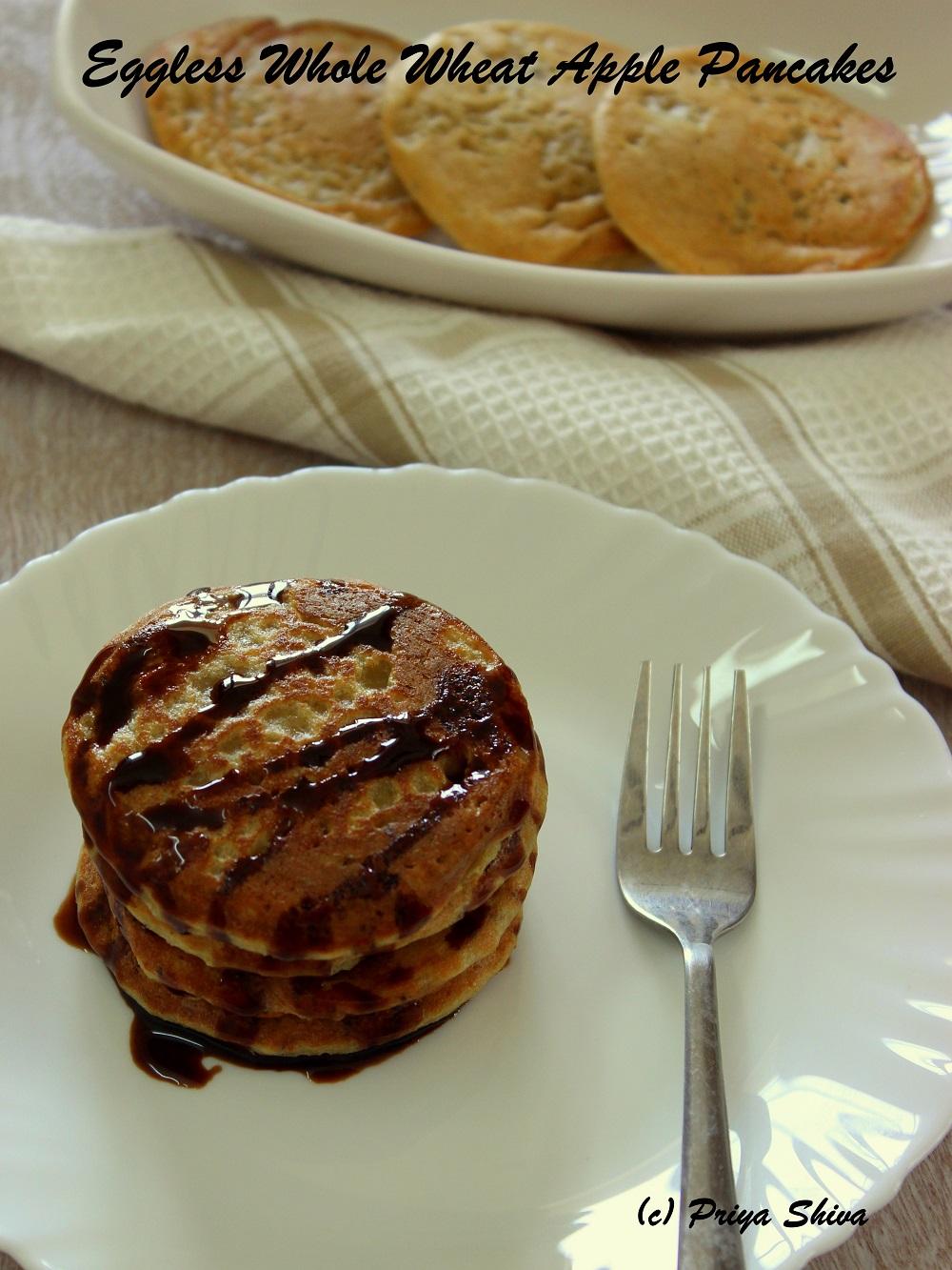whole wheat apple pancakes