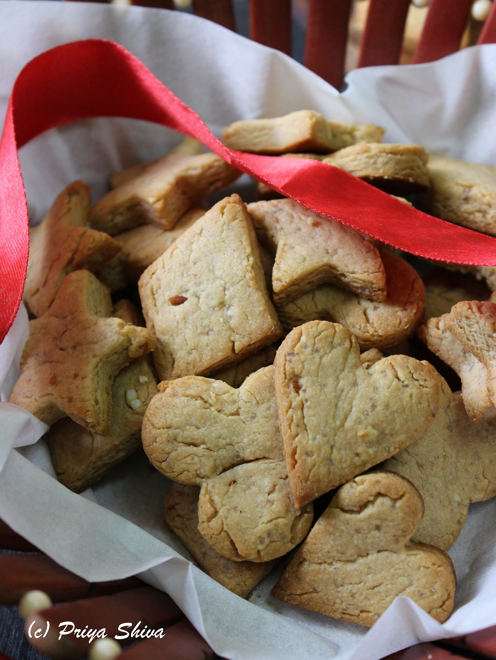 peanut butter honey almond shortbread cookies