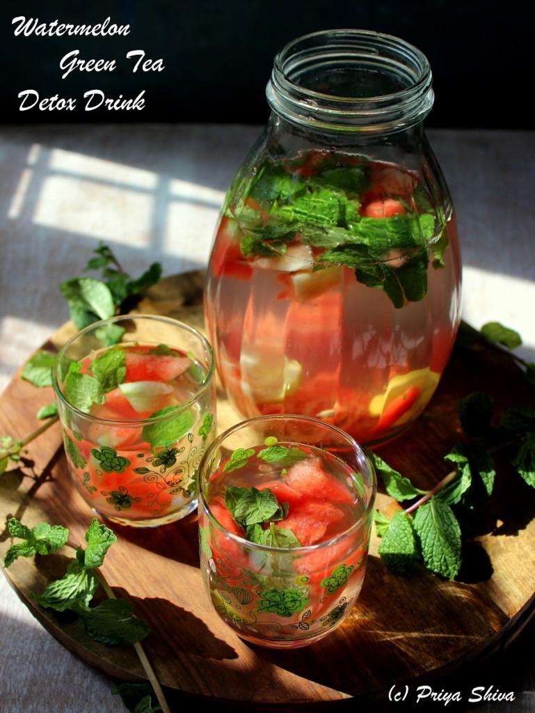 Watermelon green tea detox